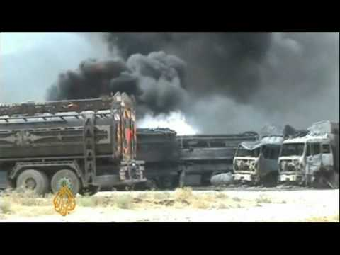 Xxx Mp4 NATO Trucks Destroyed After Afghan Taliban Attack 3gp Sex