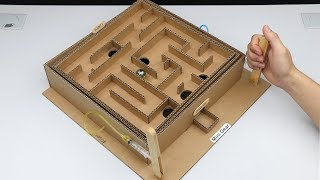 How to Make Marble Game Control by Hydraulic Powered