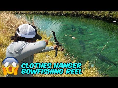 Xxx Mp4 DIY Homemade Clothes Hanger BOWFISHING REEL 3gp Sex