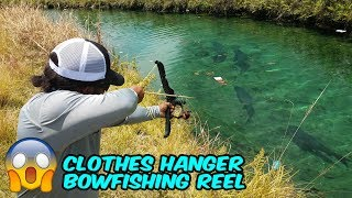 DIY BOWFISHING Made with Clothes Hangers!!! Monster Mike Fishing
