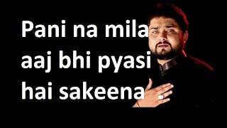 Pani na mila aaj bhi pyasi hai sakeena. Heart touching by Raza Abbas zaidi. Shabe aza in Sweden.