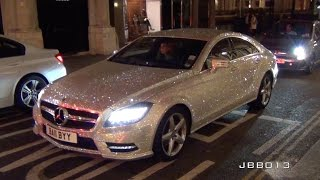 Crazy Mercedes Covered in One Million Swarovski Crystals in London!