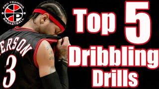 Top 5 Two Ball Dribbling Drills | 5 Advanced Ball Handling Drills | Pro Training Basketball