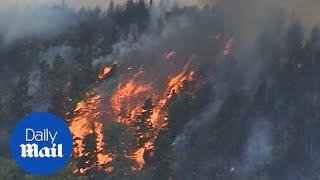 Evacuations begin as fire crews work to contain Gran Canaria blaze