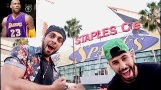 LOS ANGELES REACT TO LEBRON JAMES IN LAKERS!!