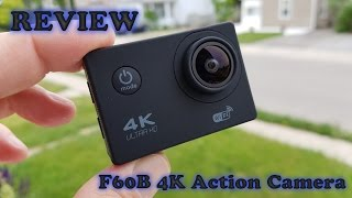 F60 4K WIFI Action Camera REVIEW and Sample Footage