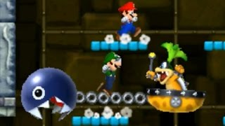 New Super Mario Bros 2 - All Castle Bosses (2 Players)