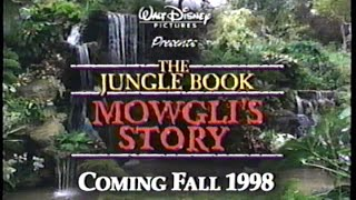 The Jungle Book - Mowgli's Story (1998) Trailer 2 (VHS Capture)