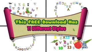 FREE  Alphabet Placemat Download from LEEP Learning &   Easy ESL Games