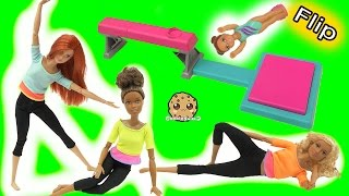 Gymnastic Flip In Air Girl + Most Poseable Doll EVER Made To Move Barbie