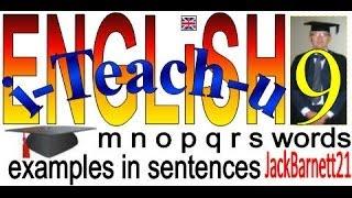 i-Teach-u ENGLiSH M N O P Q R S words _ _