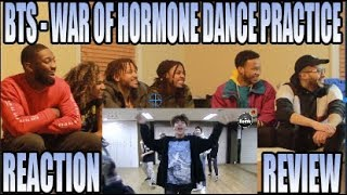 BTS 방탄소년단 - WAR OF HORMONE  DANCE PRACTICE 호르몬 전쟁 REACTION/REVIEW