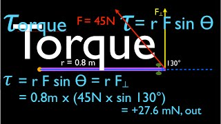 Physics, Torque, An Explanation