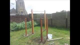 Tutoriel : fabriquer sa barre de traction et barres parallèles dans son jardin