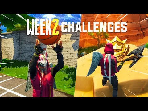 Xxx Mp4 Fortnite WEEK 2 Challenges Guide Basketball Locations Search Between Treasure Map 3gp Sex