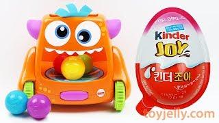 Learn Colors Crawl Monster Kinder Surprise Joy Egg Toys Spider Man Milk Carton Baby Finger Songs