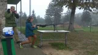 10 year old boy and anty-tank rifle