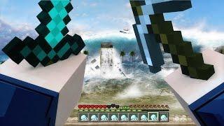 REALISTIC TSUNAMI IN MINECRAFT   Minecraft - Mod Battle Challenge