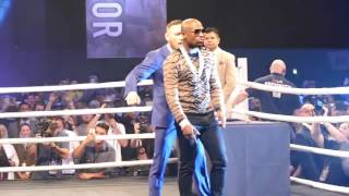 Conor McGregor MOCKS Floyd Mayweather BEHIND HIS BACK At London Tour