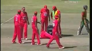 Cricket player loses teeth ( Bangladesh VS Zimbabwe)