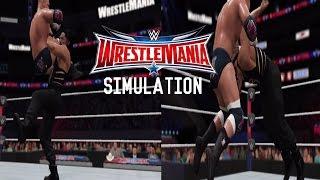 WWE 2K17 SIMULATION: Roman Reigns vs Triple H - Wrestlemania 32 Highlights