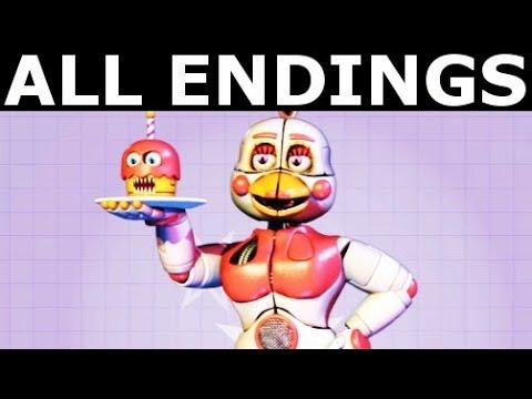FNAF 6 ALL ENDINGS Freddy Fazbear s Pizzeria Simulator All Possible Ending Outcomes