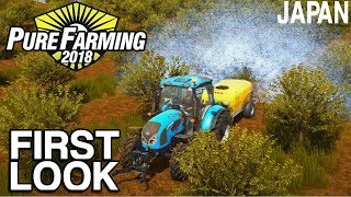 PURE FARMING 2018 FIRST LOOK GAMEPLAY | JAPAN ORCHARDS