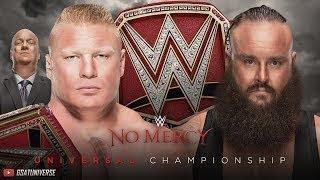 Brock Lesnar vs Braun Strowman Full Match - WWE No Mercy 2017 Universal Champion