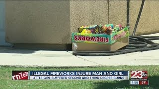 Man, 2 year old girl injured by illegal fireworks on fourth of July
