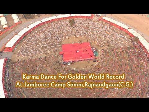 Xxx Mp4 Karma Dance For Golden World Record At Jamboree Drone Video Chhattisgarh 3gp Sex