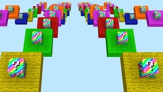 Minecraft RAINBOW LUCKY BLOCK DROPPER #2 with The Pack (Minecraft Lucky Block Mod)