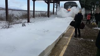 How Did This Train Create This Monster Wall Of Snow?