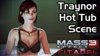 Mass Effect 3 - Citadel DLC - Traynor Hot Tub Scene (Female Shepard / Romance)