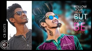 Awesome CB editing | How to edit like CB edits | Photoshop CC Tutorial |  High color contrast