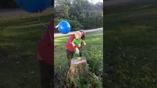 First birthday balloon release