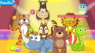 GAME KIDS -Animal Shows Panda's Circus | Kids Learn Animals Names Educational Games by BabyBus