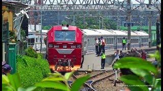 Pertama Kalinya CC 300 Lokomotif Karya Anak Bangsa PT INKA Menjajal Jalur Sukabumi