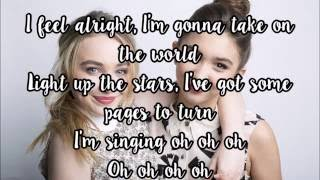 Take on the World - Rowan Blanchard/Sabrina Carpenter (Lyrics) [Girl Meets World theme song]