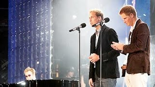 Princes William and Harry at Wembley - Concert for Diana 2007