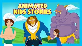 ANIMATED KIDS STORIES - The Selfish Giant, The Beauty & The Beast AND Aladdin -KIDS HUT STORYTELLING