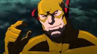 Liga dela justicia la paradoja del tiempo-Flash habla con Zoom