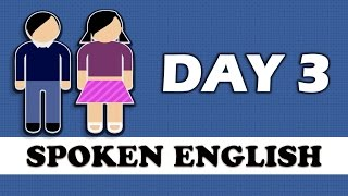 ✔ 20 Days Spoken English Learning Challenge | ✔ Spoken English Learning Video- DAY 3