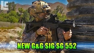 New G&G Sig SG 552 Tactical Engagement! (Jericho Airsoft Gameplay/Commentary)