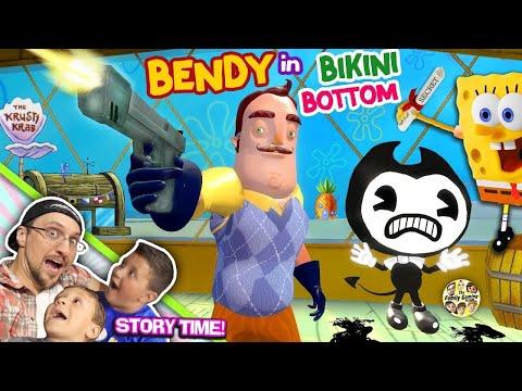 BENDY & the Ink Krabby Patty Machine KRUSTY KRAB w Spongebob Hello Neighbor gets Secret Formula