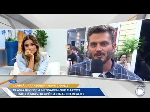 Exclusivo Marcos deixa mensagem para Flávia após a final de A Fazenda Nova Chance