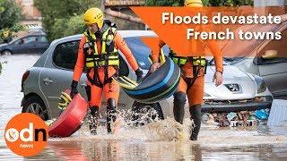 Fatal flash floods devastate towns in southwestern France