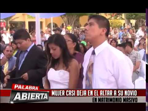 Verguenza masiva Novia se arrepiente en boda pública