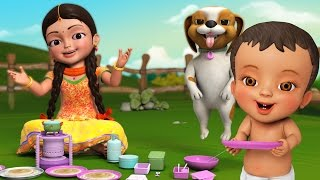 Dosamma Dosa | Telugu Rhymes for Children | Infobells