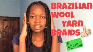 Another hair video  Brazilian wool yarn braids