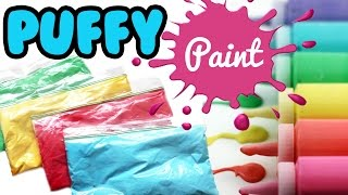How to Make PUFFY PAINT Tutorial ONLY 3 Ingredients | Toy Caboodle